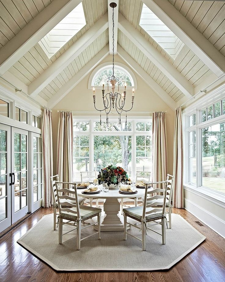 Exposed beams add characted to the room