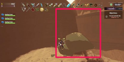 Use Rock Connected To Wall To Get Up